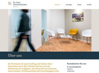 Dr. Karl Schindeldecker, Website | 6grad51 design